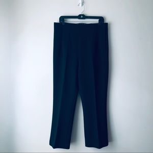 Zara High Waisted Cropped Pleated Trousers (XL)